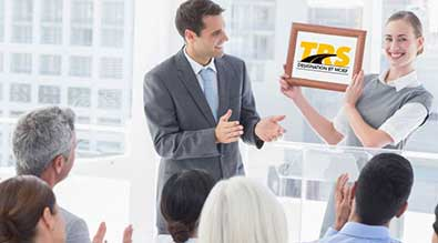 TRS receiving award