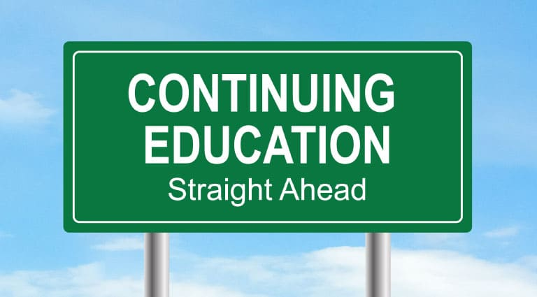 Continuing Education Straight Ahead